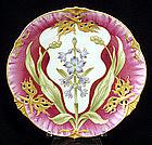 Antique Nymphenburg Cabinet Plate, Art Nouveau Period