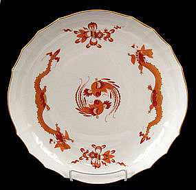 Meissen Red Dragon Charger