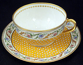 Lovely Antique Ginori Tea Cup & Saucer