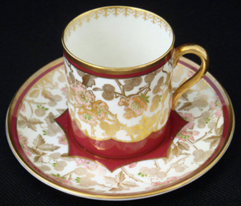 Unusual Shelley Demitasse Cup & Saucer