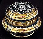 Antique Moser Enameled Glass Powder Jar