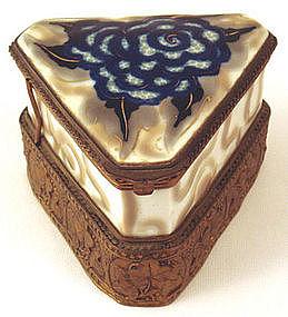 Unique Art Deco Tharaud Limoges Dresser Box