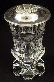 Bohemian Engraved Crystal Wedding Cup