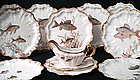Doulton Burslem Fish Plates with Sauce Boat