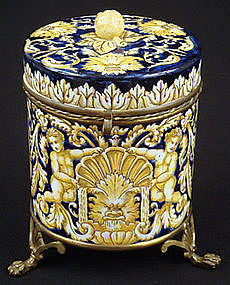 Classical French Faience Brass Mounted Box