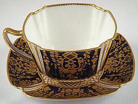 Superb Copeland Cobalt Tea Cup & Saucer