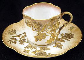 Art Nouveau Doulton Burslem Demitasse Cup & Saucer