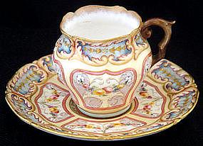 Exceptional Doulton Burslem Demitasse Cup & Saucer