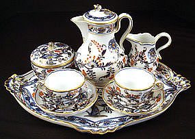 Meissen Tea for Two on Tray, Imari Pattern