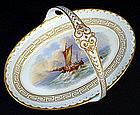 Antique Nautical English Porcelain Basket