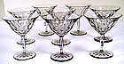8 Orrefors Swedish Cut Crystal Glasses