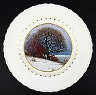 Art Nouveau KPM Scenic Plate �Winter�