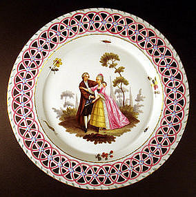 Rare 18th C. Limbach Cabinet Plate