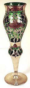 Art Nouveau American Silver Overlay Vase