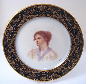Antique William Guerin Portrait Plate