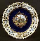 Antique Meissen Cabinet Plate, War Scene