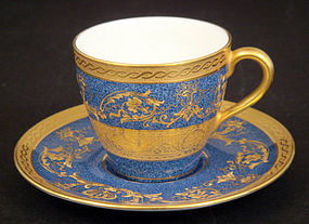 Royal Doulton Gilded Demitasse Cup & Saucer