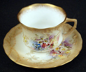 Antique Doulton Burslem Demitasse Cup & Saucer