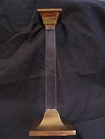 Brass and Acrylic Candlestick