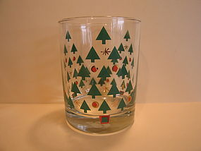 Georges Briard Christmas Glass