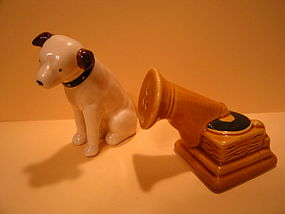 RCA Nipper Salt and Pepper Shakers  SOLD