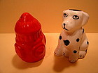 Dalmatian and Fire Hydrant Salt and Pepper Shakers SOLD