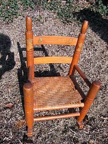 Child's Caned Rocking Chair