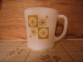 Fire King Golden Snowflake Mug