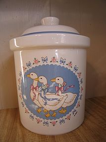 Treasure Craft Ribbon Geese Sugar Canister