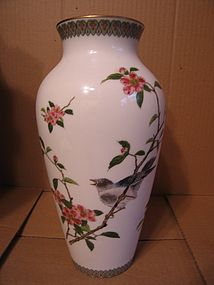 Porcelain Flowers and Bird Vase