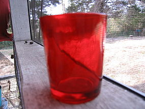 Red Glass Votive