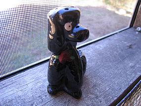 Black Poodle Salt Shaker