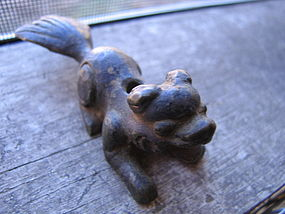 Brass Temple Dog Incense Burner