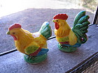 Hen and Rooster Salt and Pepper Shakers