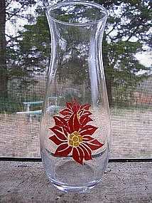 Poinsettia Hurricane Glass