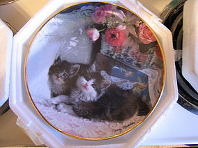 Franklin Mint Nancy Matthews Cat Plate