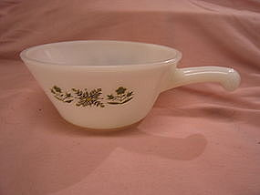 Fire King Meadow Stick Handle Bowl
