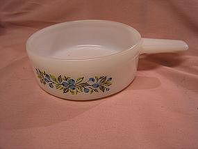 Glasbake Blueberry Stick Handle Bowl