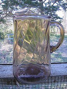 Brown Glass Pitcher