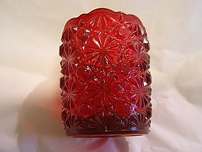 Mosser Ruby Toothpick Holder