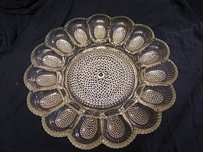 Glass Egg Plate