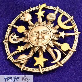 JJ Celestial Sundial Pin