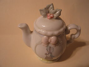 Precious  Moments December Teapot