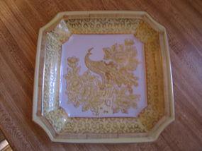 Porcelain Peacock Ashtray