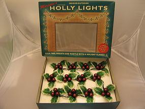 Marjorie's Holly Lights  SOLD