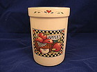 Susan Winget Country Fair Utensil Holder  SOLD