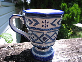 Fitz and Floyd Cobalt Blue Mug