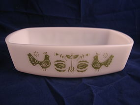 Federal Green Birds Loaf Pan