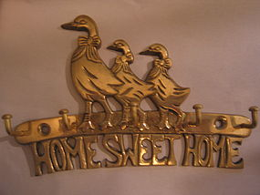 Brass Geese Key Holder