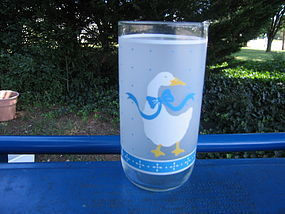 Libbey Country Goose Glass